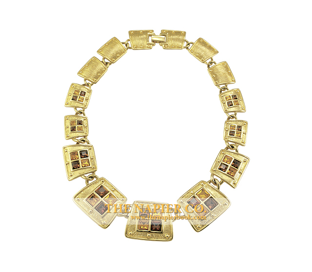 Napier rhinestone necklace, 1992