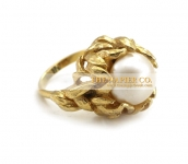 Napier fashion ring floral motif