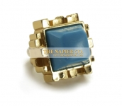 Napier fashion ring geometric motif