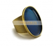 Napier oval-shaped ring with transparent enamels