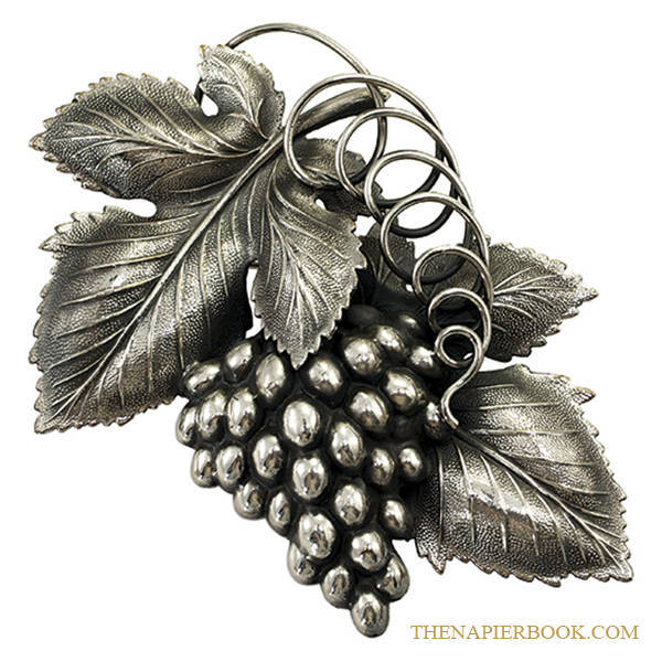 The Danish grape leaf brooch designed by Eugene Bertolli.