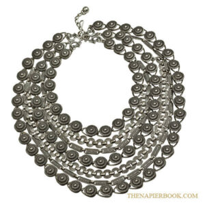 Napier 1950s Silver-Plated Multi Chain Bib