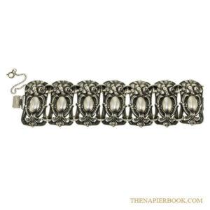 Napier Repoussé Silver-Plated Bracelet
