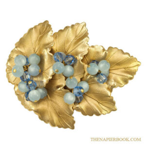 Napier Moonglow Grapeleaf Brooch Cover Piece