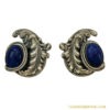 Napier Repousse Silver-plated Faux Lapis Earrings