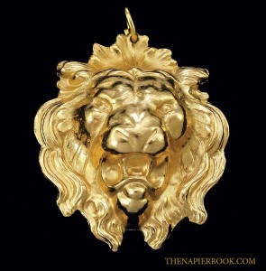 Napier Hand-Carved Lion Pendant