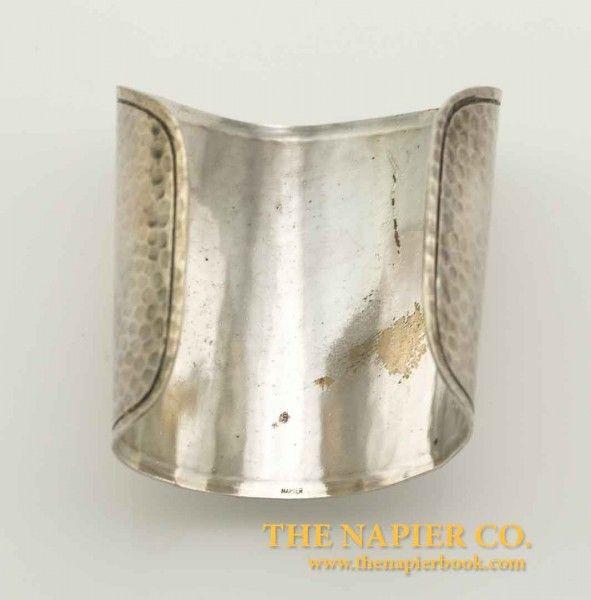 Rare Napier Modernist Hammered Cuff