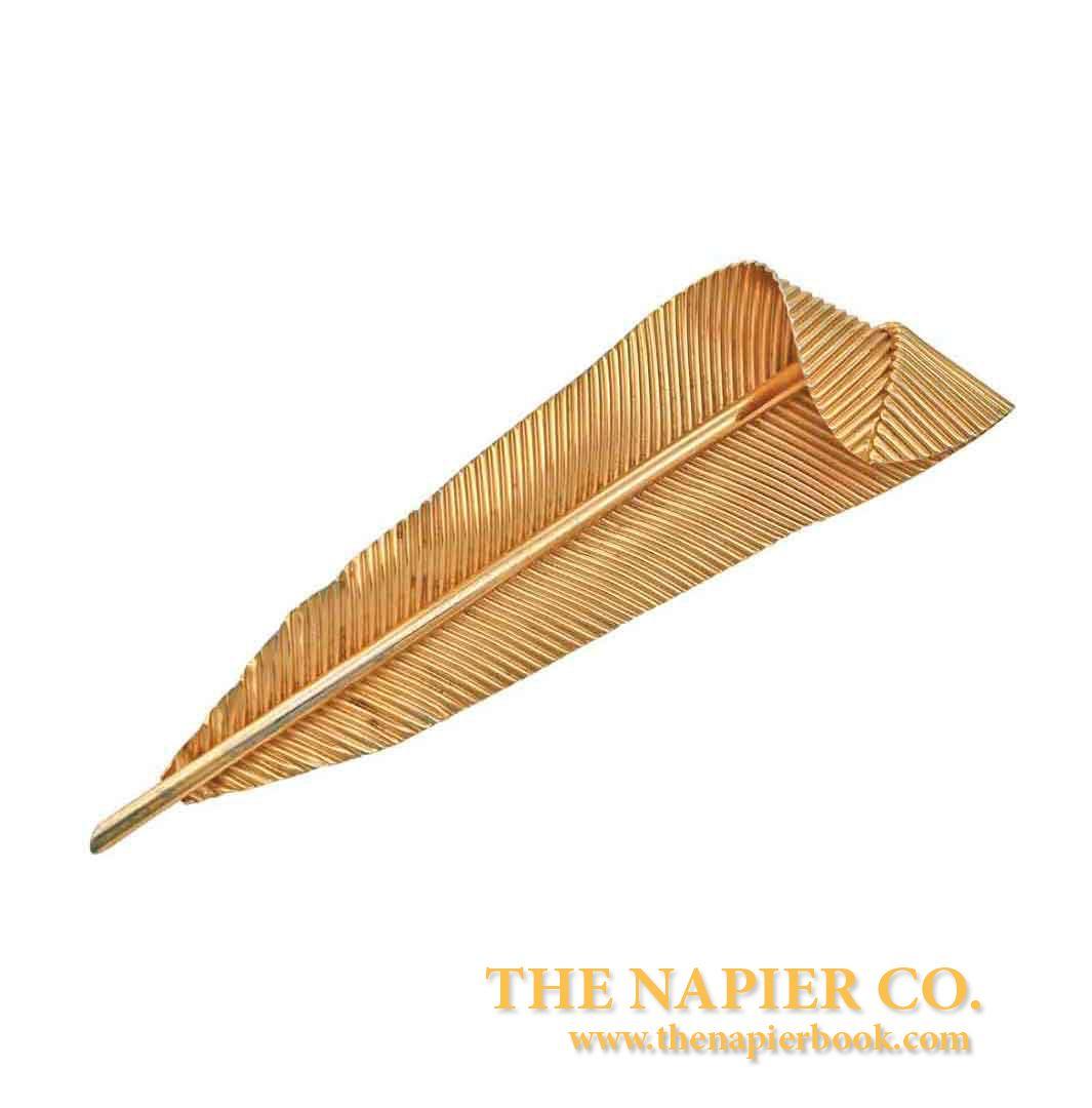 Huge Napier Feather Brooch