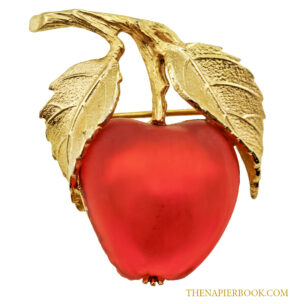 Napier Apple Figural Pin