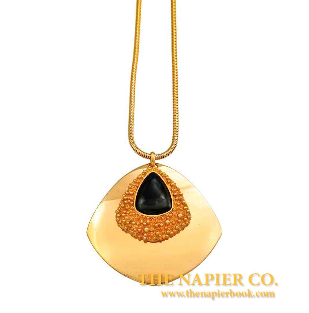 Textured Gold-plated Napier Pendant