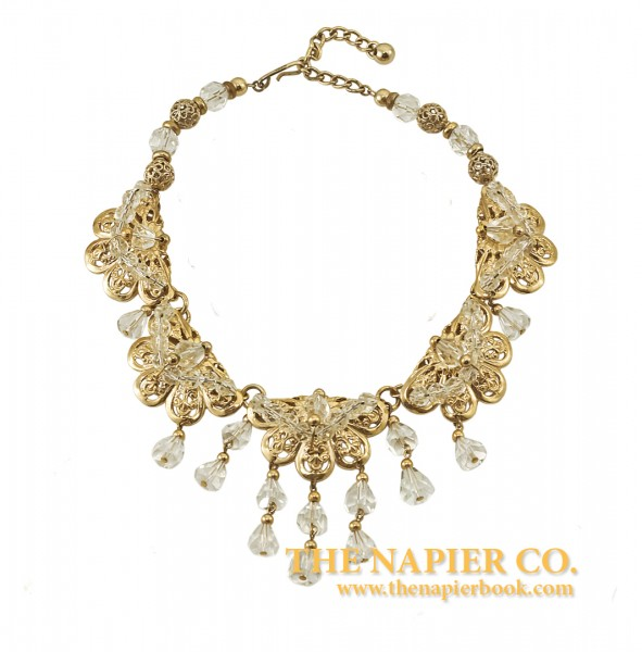 Napier 1950s Crystal Bib Necklace