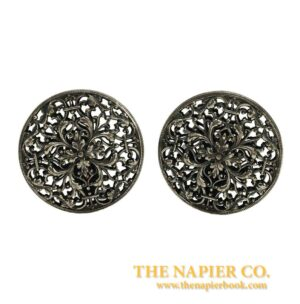 Napier Open metalwork Floral Earrings