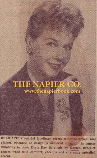 Doris Day Wearing a Napier Swirl Cuff