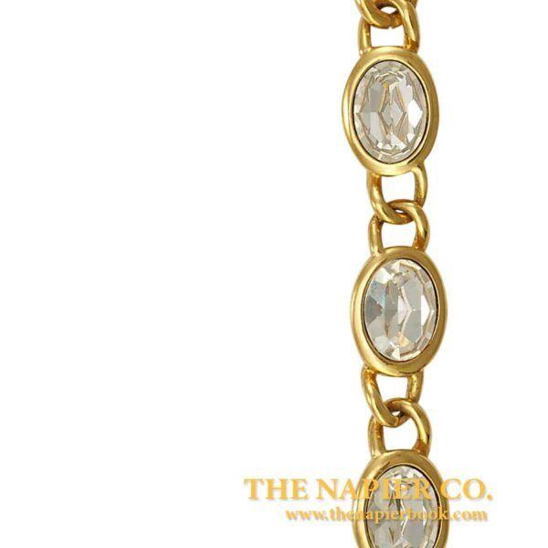Vintage Napier 1990s Rhinestone Flexible Link Bracelet
