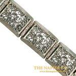 Fabulous Vintage Napier Open Metalwork Link Bracelet