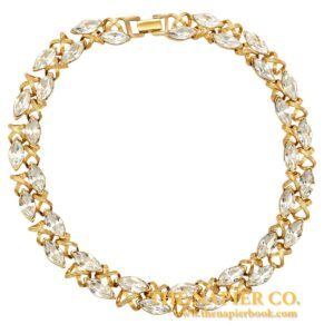 Vintage Napier 1990s Rhinestone Collar Necklace