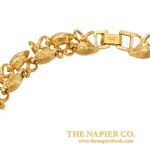 Vintage Napier 1990s Rhinestone Collar Necklace Manufacturers Marks