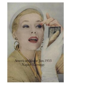 Napier Tailored Earrings as featured in Vogue