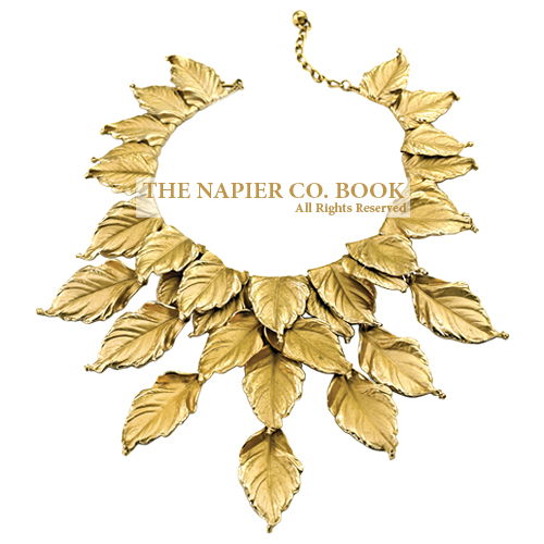 """""""Frosted1950s """"Frosted Leaves"""" fill-in necklace"""