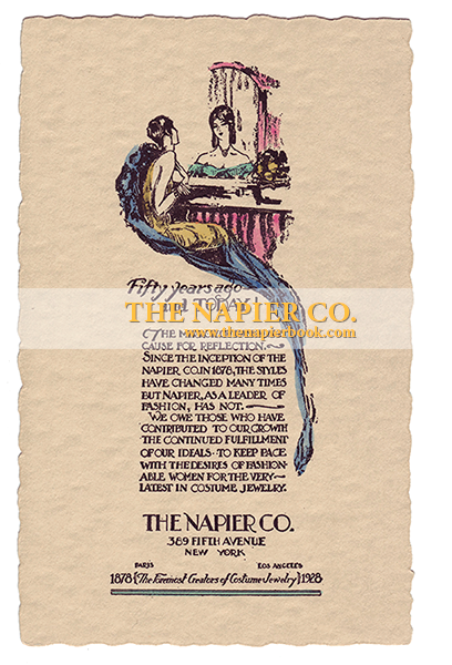 The Napier Co. 50-year Anniversary Card 1928