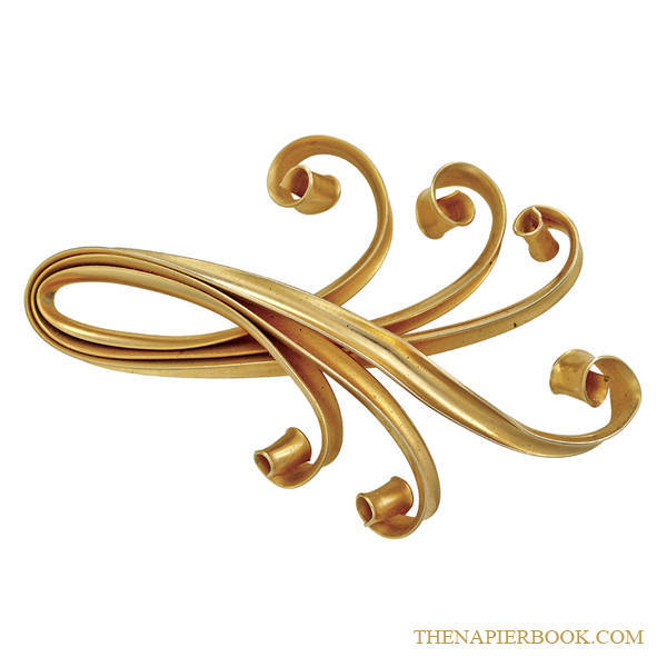 Napier Asian-inspired Gold-tone Brooch