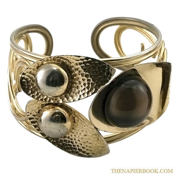 Napier Brown Moonglow Cuff with Free Earrings