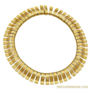 Napier 1960s Cleopatra Style Collar Necklace