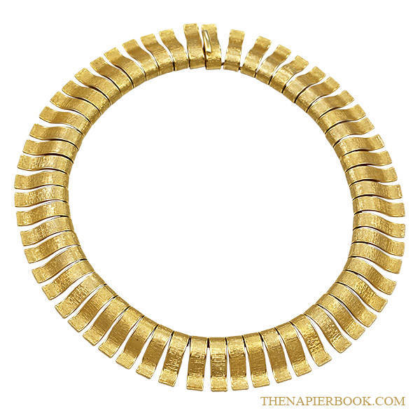 Napier 1960s Cleopatra-Style Collar Necklace
