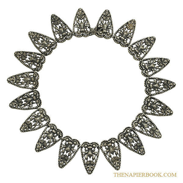 Napier 1950s Silver-plated Filigree Necklace