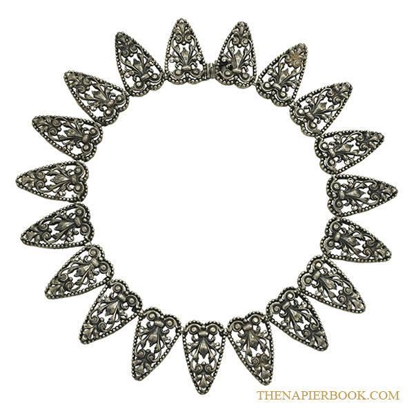 Napier Filigree Silver-Plated Necklace and Bracelet Set