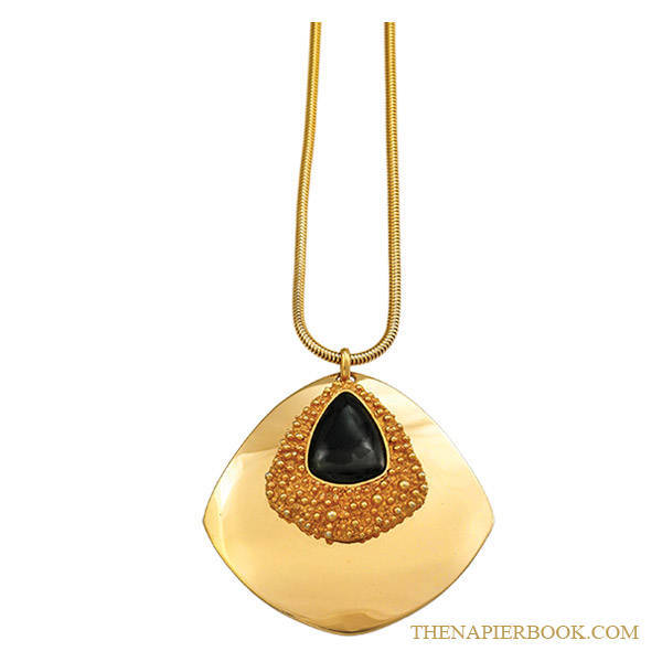 Napier Textured Gold-plated Pendant by Francis Fujio