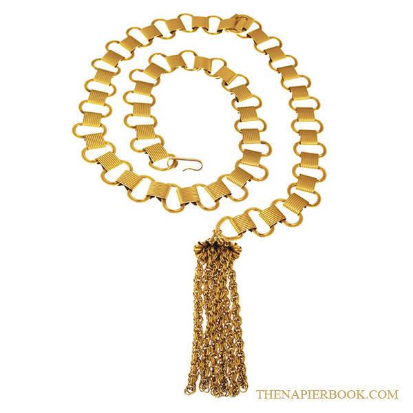 Napier Gold-plated Link Bikini Belt