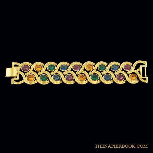 Napier Limited Edition Gold-plated Rhinestone Bracelet