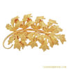 Fabulous Napier Golden Leaf Brooch