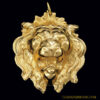 Napier Hand-Carved Lion Pendant