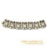 Vintage 1950s Silver-plated Flexible Link Bracelet