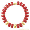 """Napier Red Enamel Necklace """"Pacific"""" Collection"""