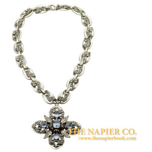 Stunning Napier Silver-Plated Maltesse Cross Necklace