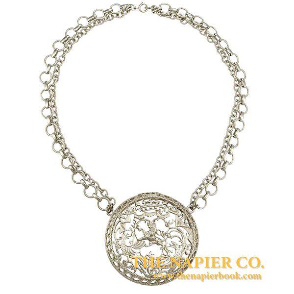 Vintage 1970s Napier Heraldic Theme Necklace