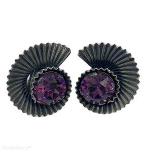 Vintage Napier 1950s Spiral Nautilus Earrings