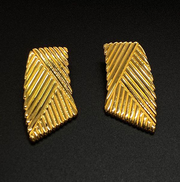 Vintage Napier 1990s Geometric Pierced Earrings