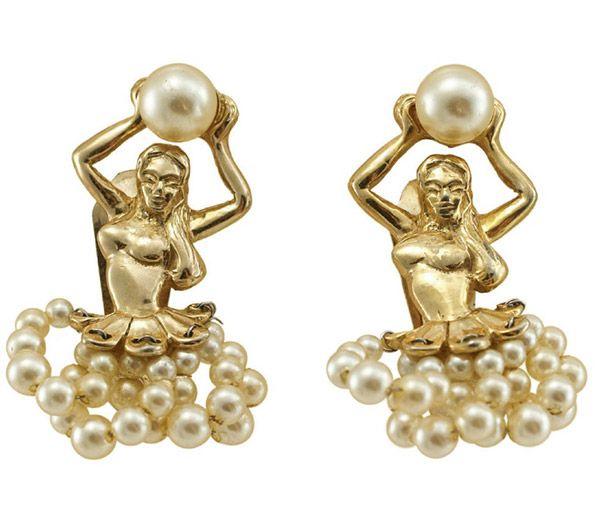 Napier 1950s ballerina earrings