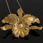 Vintage Napier Iris Pendant